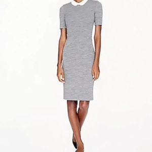 J.Crew Peter Pan Collar Dress Wool Short Sleeve 0